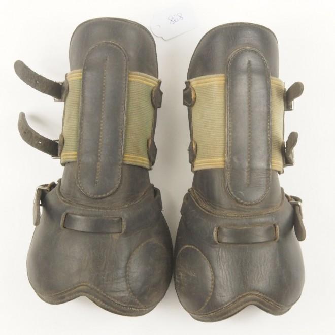 Devoucoux Leder-Springgamaschen, vorne, Gr. 2, guter Zustand