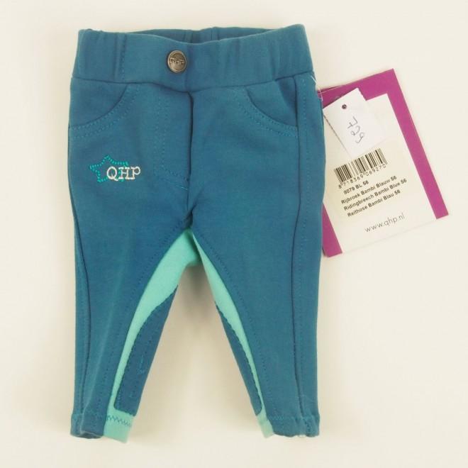 QHP Kinder-Reithose BAMBI m. Stickerei, blau, Gr. 56, NEU m. Etikett