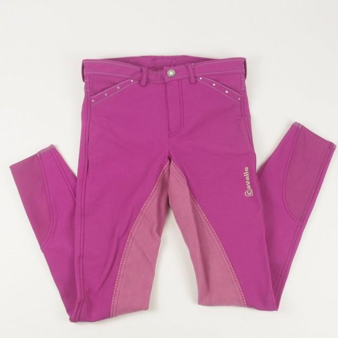 Cavallo Kinder-Vollbesatz-Reithose m. Glitzer, pink, Gr. 170, sehr guter Zustand