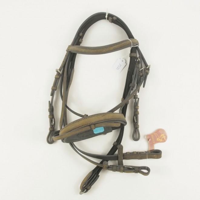Kieffer Silverline M-Pony Trense Softleder, graubraun, NEU m. Etikett