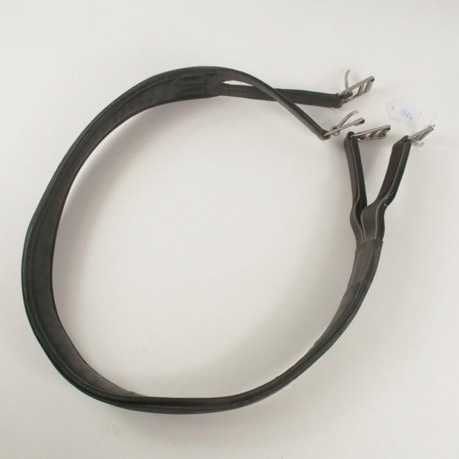 Ledersattelgurt anatomisch, schwarz, 133cm, guter Zustand