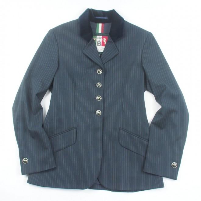 Iris Bayer Turnierjacket, blau/Nadelstreifen, Gr. 36, NEU o. Etikett / B-Ware