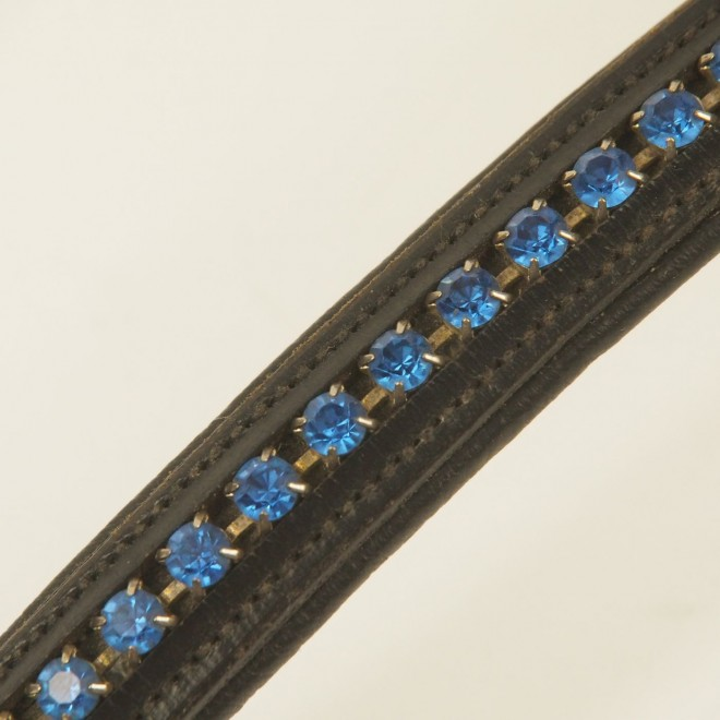 FSS Stirnriemen ROYAL SAPPHIRE m. blauen Swarovski Steinen, WB, sehr guter Zustand