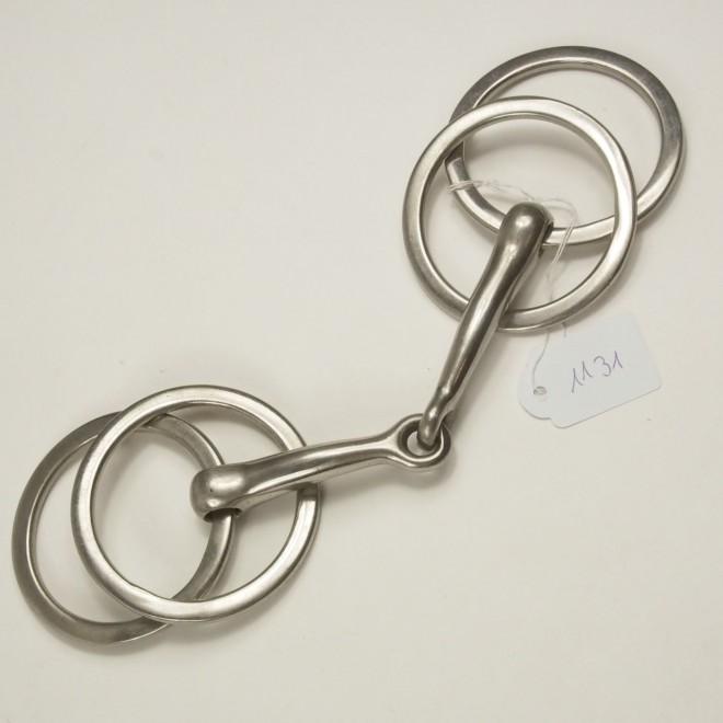 Fahrgebiss, Vierringtrense m. flachen Ringen, WB, 13,5cm, guter Zustand