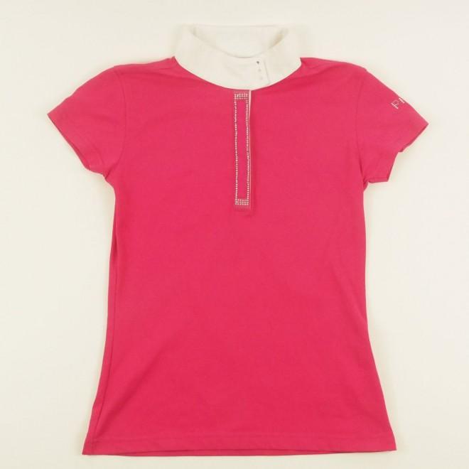 Pikeur Mädchen-Turniershirt ALEXIA m. Glutzer, pink, Gr. 140, super Zustand