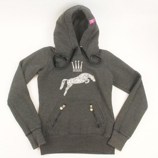Spooks Sweatshirt/ Hoodie m. Pailletten, Gr. XS, guter Zustand