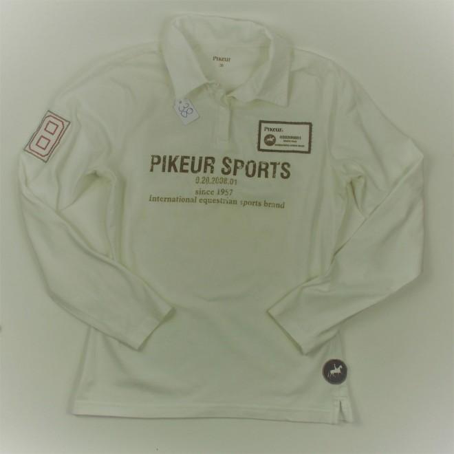 Pikeur Langarm-Poloshirt, 38, m Aufdruck, super Zustand