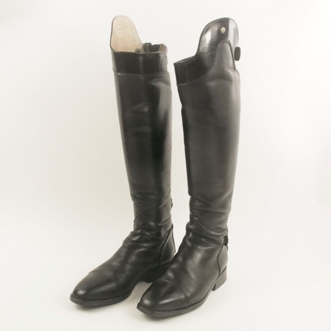 Königs Reitstiefel YOUNGSTER NEW STYLE m. Lack, Gr. 5 (38)-51H-38W, guter Zustand