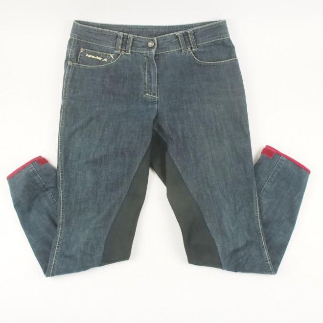 euro-star Vollbesatz-Reithose LAURA, jeans m. Details, Gr. 40, sehr guter Zustand