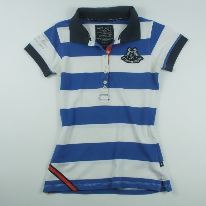 euro-star Polo Shirt CHARLIZE m. Patch, Gr. XS, sehr guter Zustand