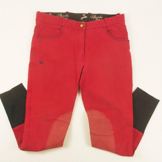 Spooks Kniebesatz-Reithose rot, Gr. Ladies-L, guter Zustand