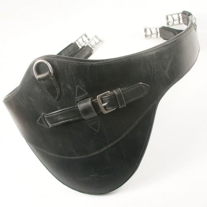 Kieffer Stollengurt mit Elastik, schwarz, 125cm, sehr guter Zustand