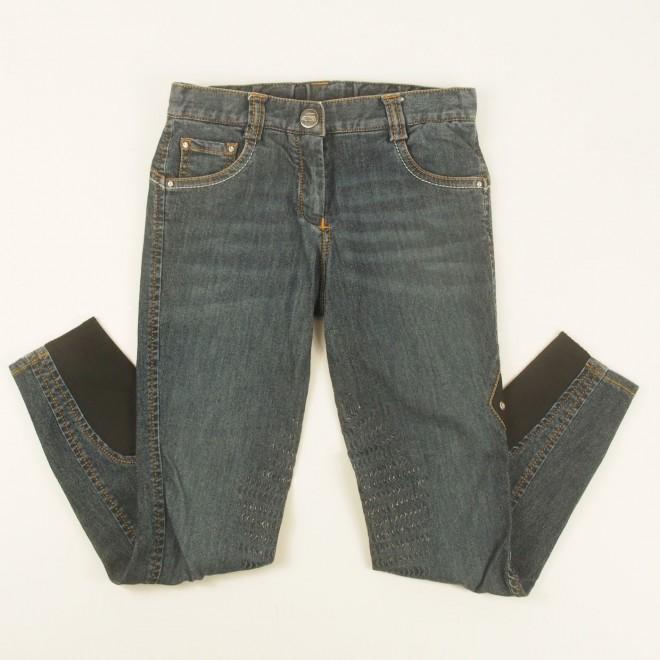 Equiline Jeans-Grip-Reithose f. Kinder m. Glitzer, Gr. 8-9Jahre, guter Zustand