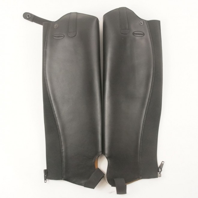 Euroriding Glattlederchaps, schwarz, Gr. 50H-38W, NEU m. Etikett