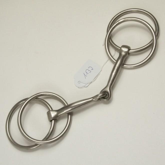 Fahrgebiss, Vierringtrense m. runden Ringen, WB, 14,5cm, guter Zustand