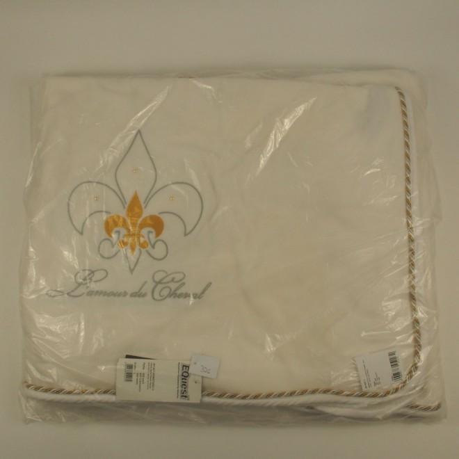 EQuest Abschwitzdecke L'AMOUR DU CHEVAL m. Stickerei und Perlen, Gr. L, 145cm, NEU m. Etikett