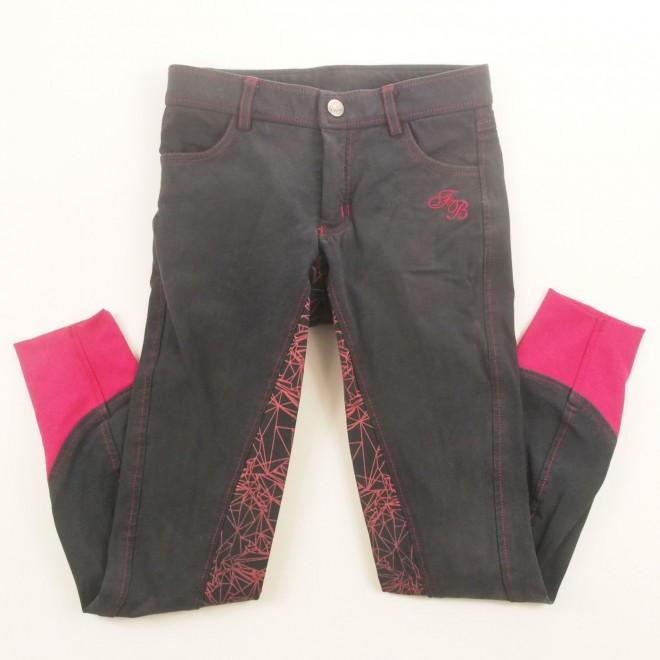 Felix Bühler Kinder-Vollgrip-Jeans-Reithose mit Details, 152, sehr guter Zustand
