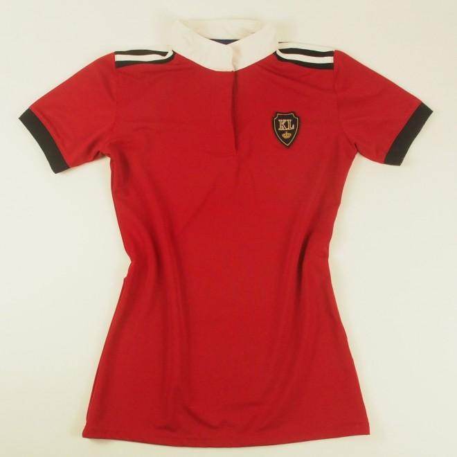Kingsland Turniershirt m- Patch, rot, Gr. S, super Zustand