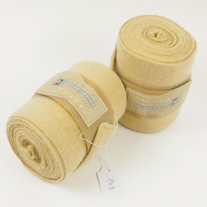 Equiline Fleecebandagen, 1 Paar, beige, WB, guter Zustand