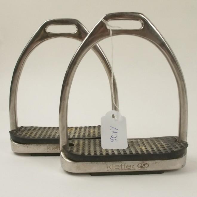 Kieffer Steigbügel Edelstahl, 12cm, sehr guter Zustand