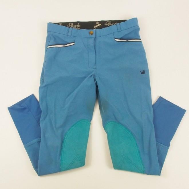 Spooks Kniebesatz-Reithose blau, Gr. Ladies-M, guter Zustand