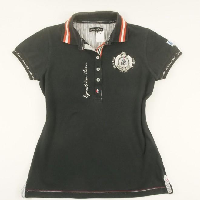 euro-star Poloshirt m. vielen Details, Gr. M, guter Zustand