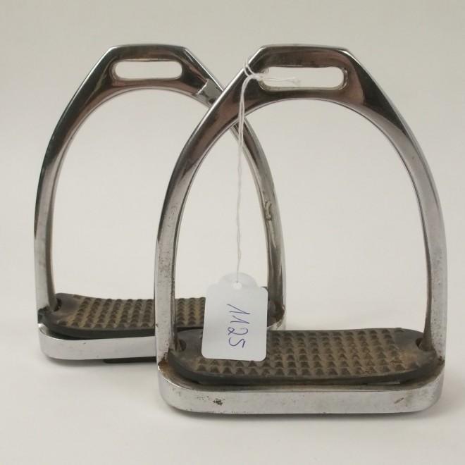 Kindersteigbügel Edelstahl, 11cm, guter Zustand