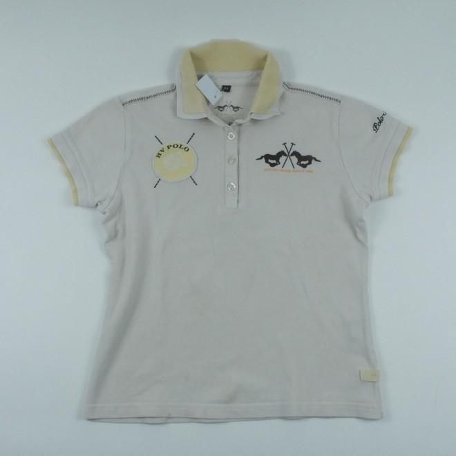 HV Polo Kinder-Poloshirt m. Patches, Gr. 164, guter Zustand