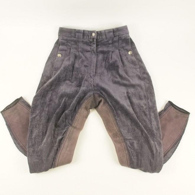 Pikeur Cord-Reithose m. Echtleder-Vollbesatz,lila, Gr. 80 (40 lang), guter Zustand