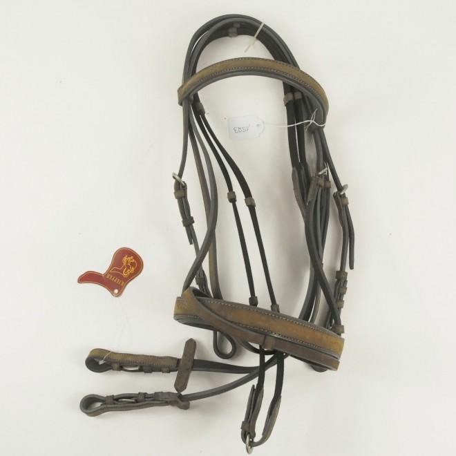 Kieffer Silverline Pony Trense Softleder, graubraun, NEU m. Etikett