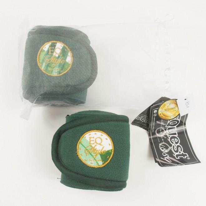 EQuest Fleecebandagen EQ STYLR Palmenblatt, 1 Paar, grün, WB, NEU m. Etikett